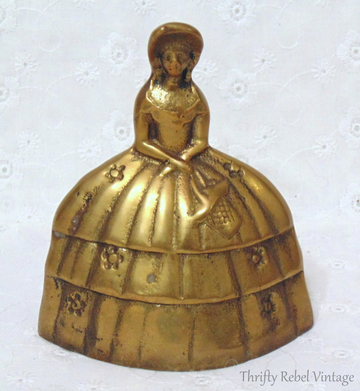 Vintage Victorian Lady Brass Bell