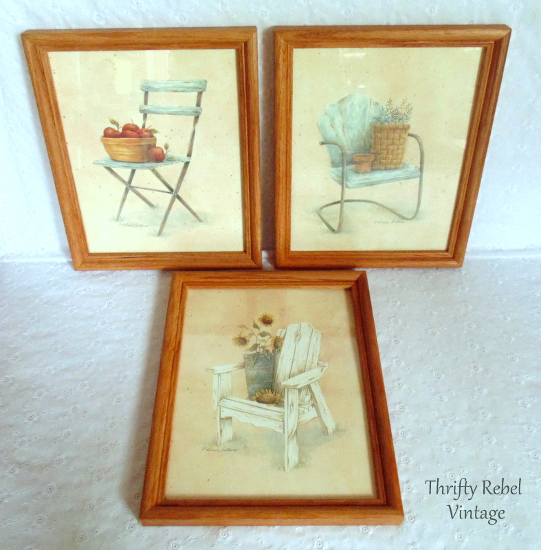 3 chair framed pictures by Diane Arthurs