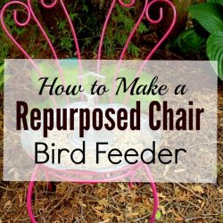 Home to Make a Repurposed Chair Bird Feeder