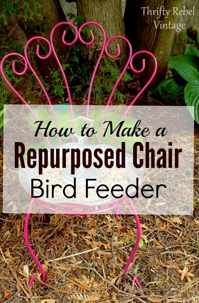 How to Make a Repurposed Chair Bird Feeder