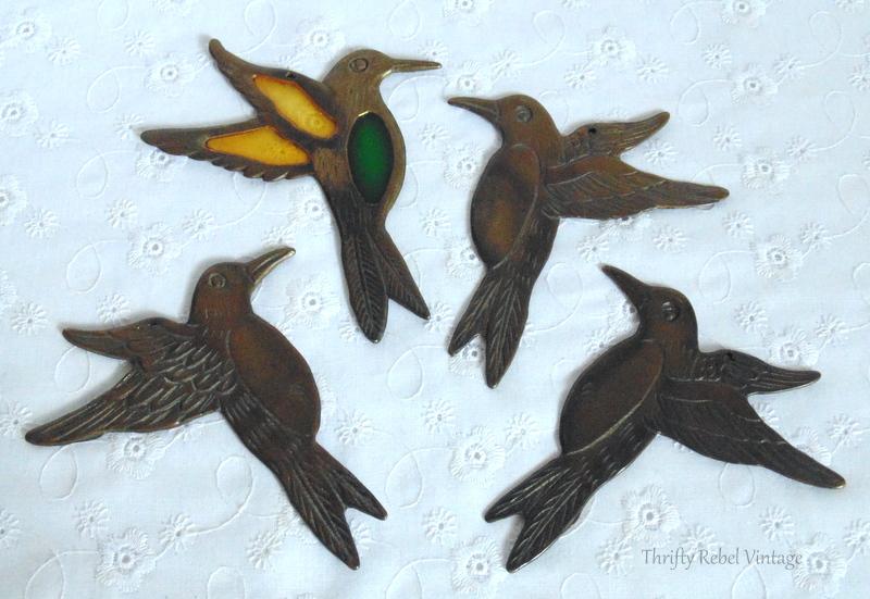 brass hummingbird wind chimes pieces