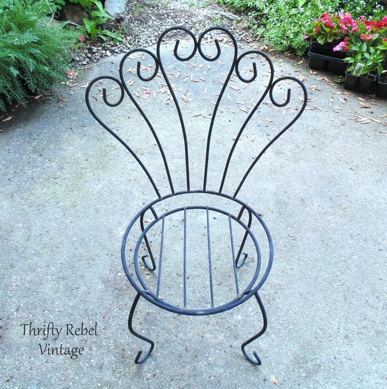 repurposed chair bird feeder