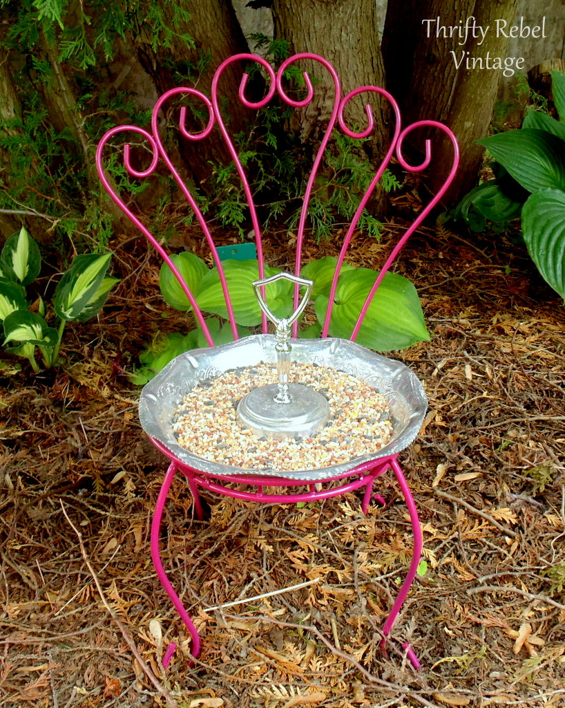 table-repurposed-chair-bird-feeder
