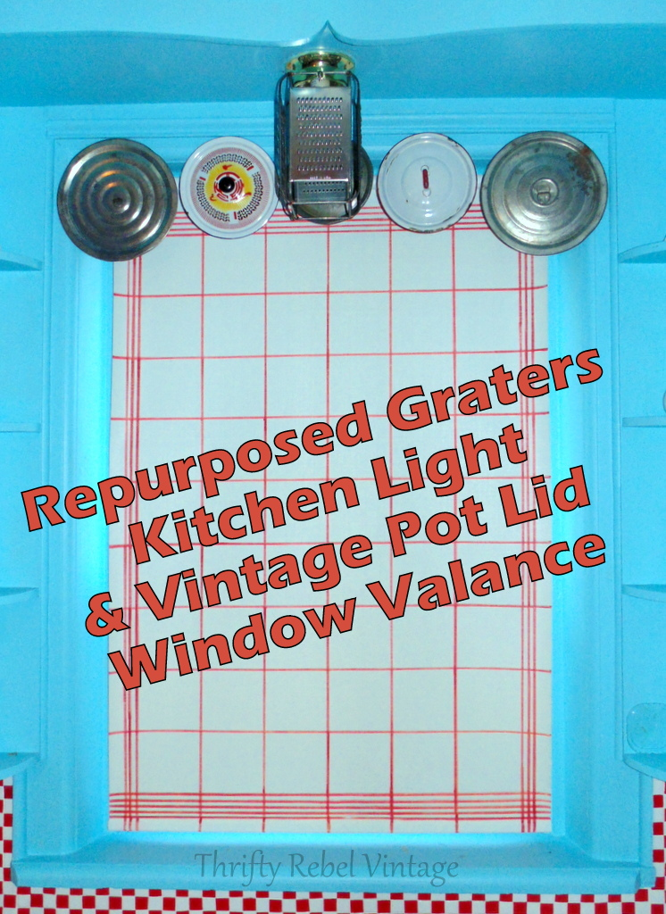 repurposed graters kitchen light