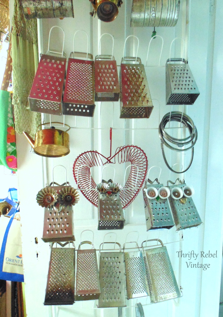 repurposed grater window valance