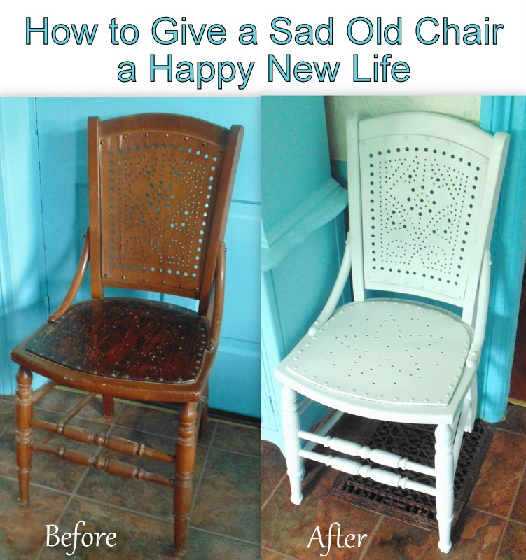 how to give an old chair a new life with spray paint