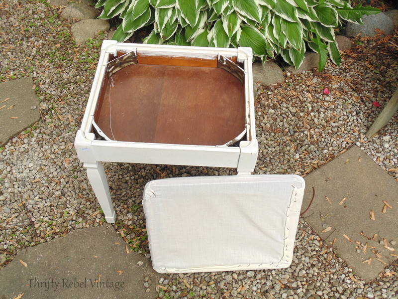 quick and easy bench seat makeover before