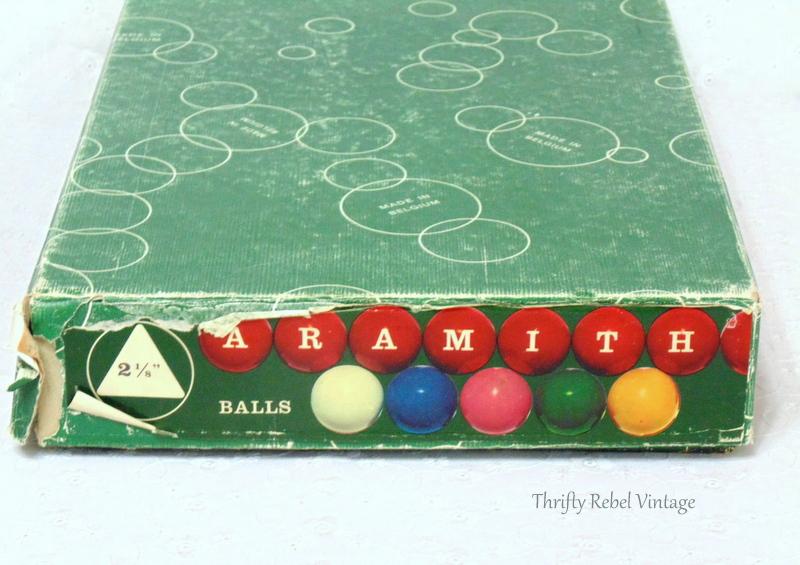 vintage Aramith snooker balls