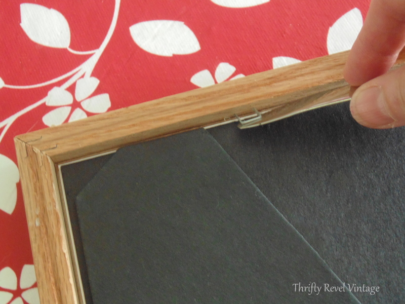 Removing staples for how to spray paint picture frames