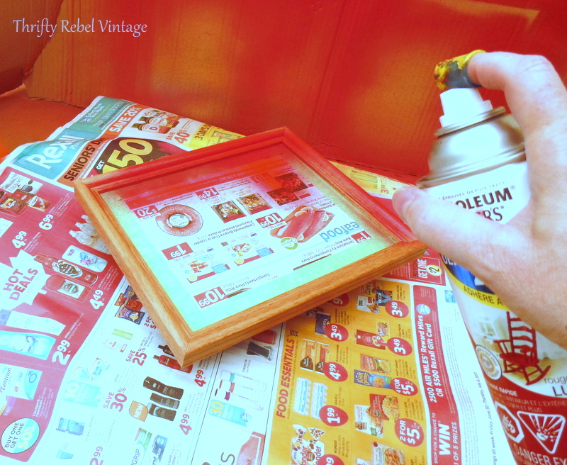 how to spray paint picture frames without removing pictures