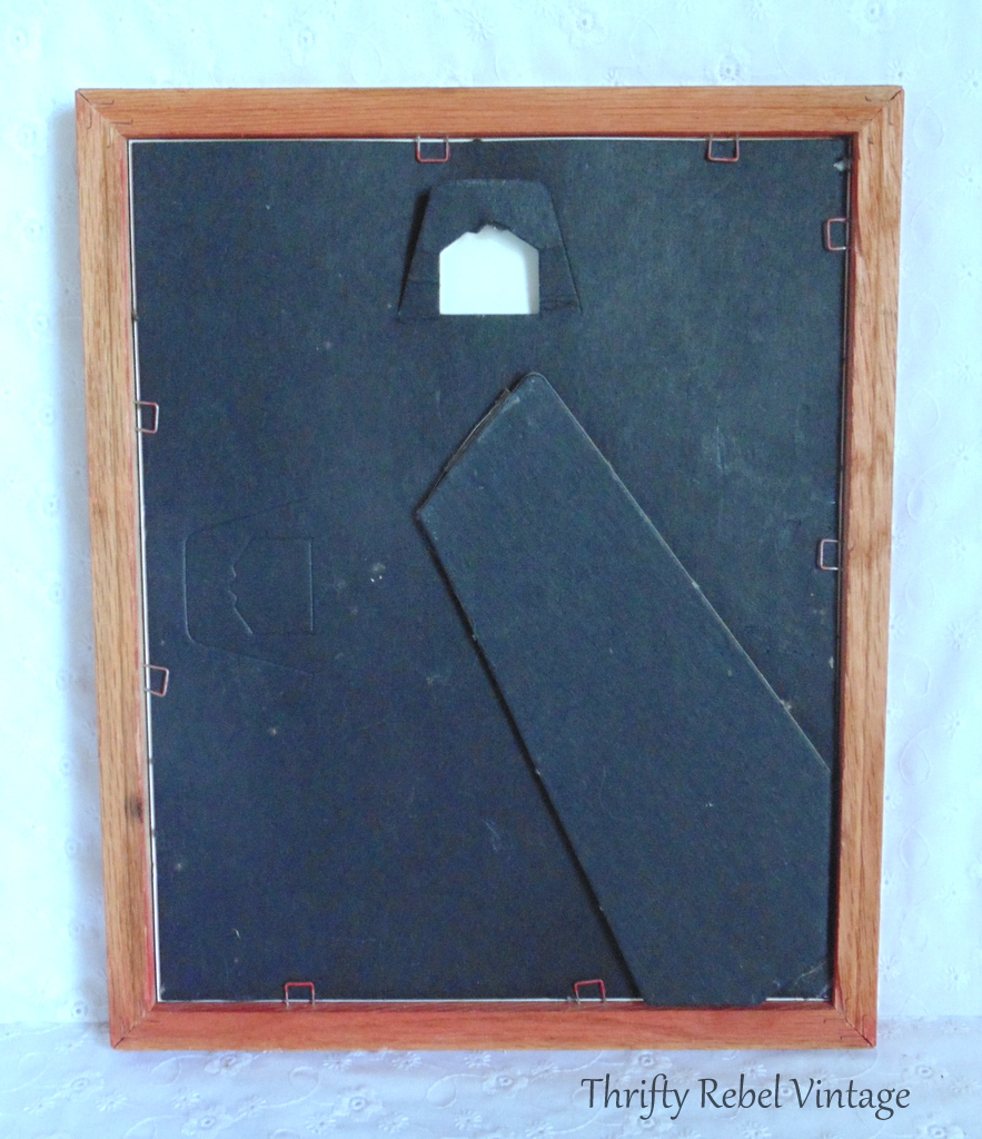 spray painted picture frame with removable back