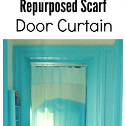 Quick, easy, and inexpensive repurposed scarf curtain