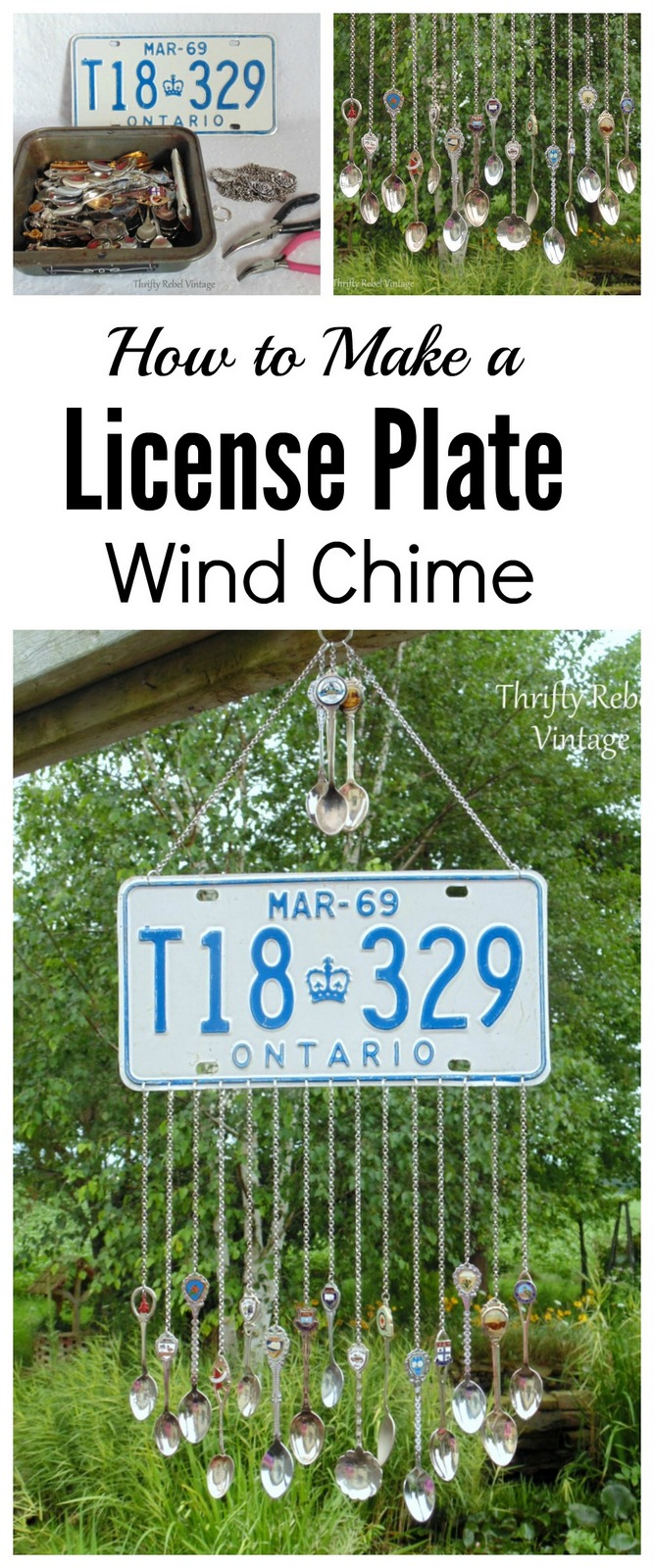 how to make a license plate wind chime