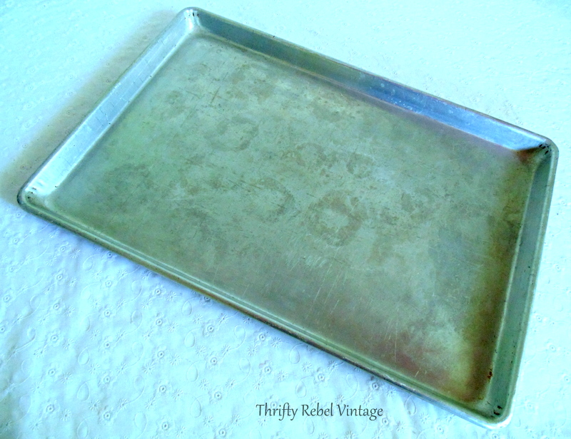 How to make a quick and easy vintage cookie sheet chalkboard