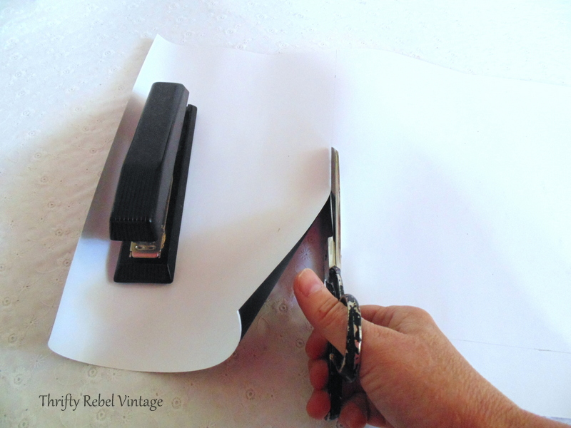 Cutting chalkboard vinyl to make vintage cookie sheet chalkboard