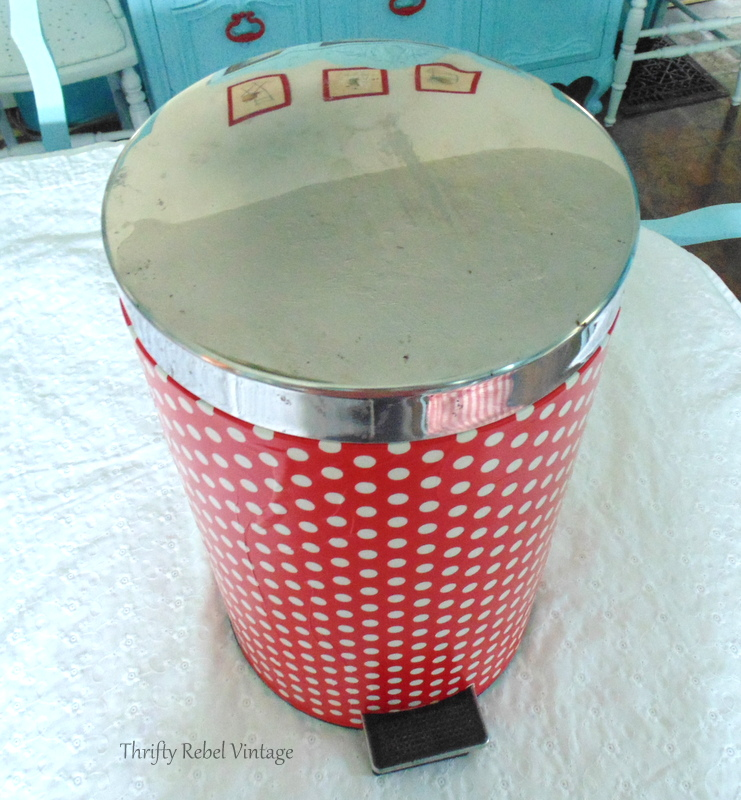 Stainless steel garbage can flip top lid before for how to decoupage a garbage can