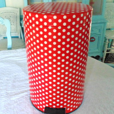 How To Decoupage A Garbage Can To Match Your Decor