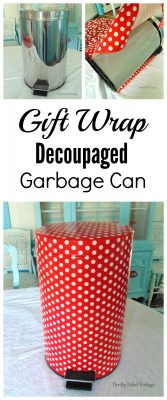 How to decoupage a garbage can