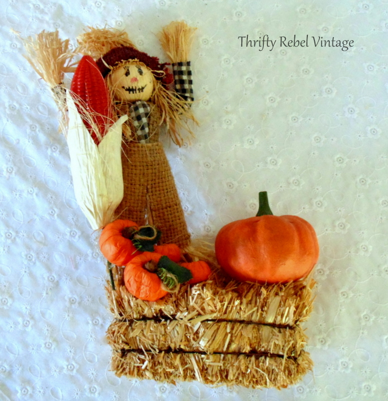scarecrow for fall door decor wreath