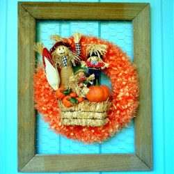 Repurposed Scarf Fall Door Decor