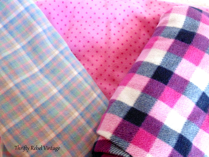 3 pairs of flannel pants for no sew pumpkins