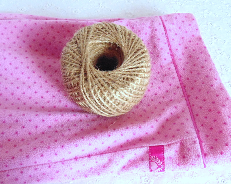 Roll of jute twine for no sew pumpkins made from flannel pants