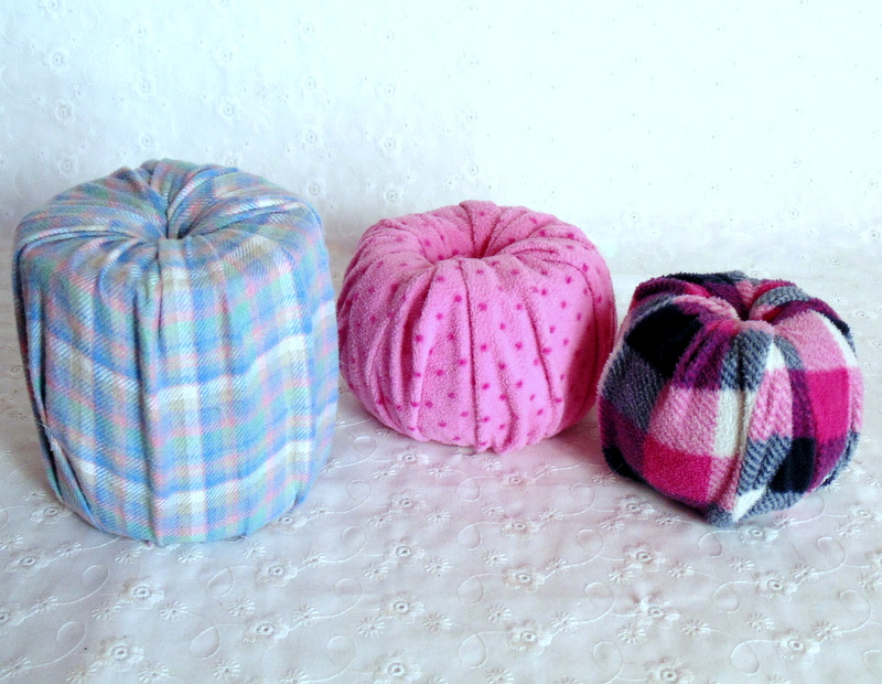 No sew pumpkins make from flannel pants