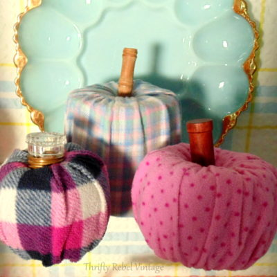 Quick & Easy No Sew Pumpkins Made From Flannel Pants