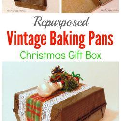 How to Make a Repurposed Vintage Baking Pan Gift box