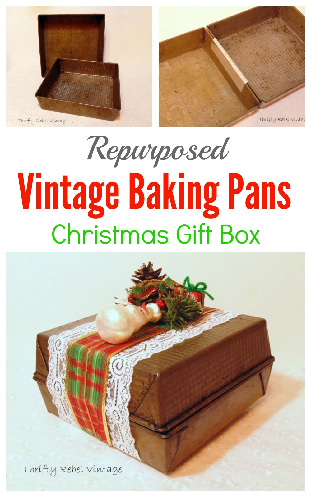 How to Make a Repurposed Vintage Baking Pan Gift box