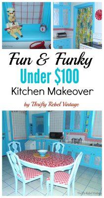Under $100 Kitchen Makeover