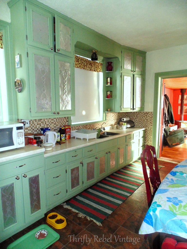 Under $100 kitchen makeover reveal before