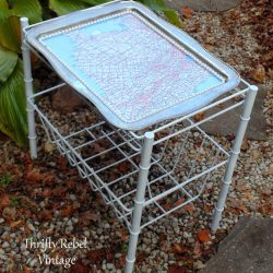 How To Make A Decoupaged Silver Tray Map Table