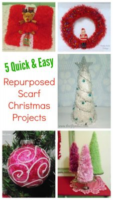 5 Repurposed Scarf Projects for Christmas