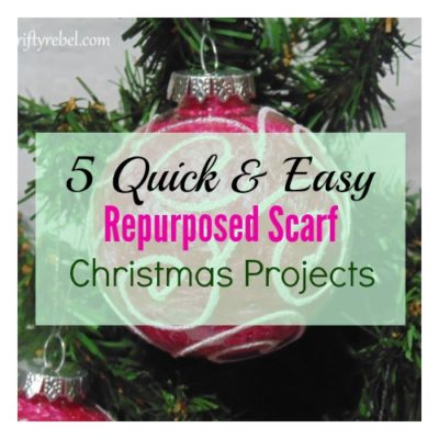 Five Quick & Easy Repurposed Scarf Projects for Christmas