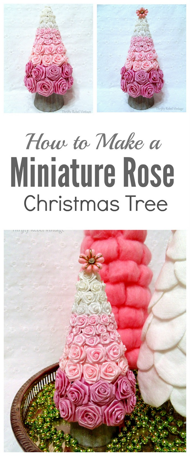DIY Miniature Rose Christmas Tree