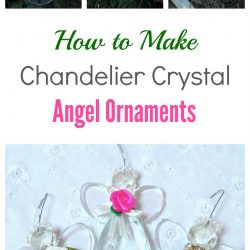 Trio of chandelier crystal angel ornaments