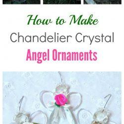 Trio of chandelier crystal angel ornaments