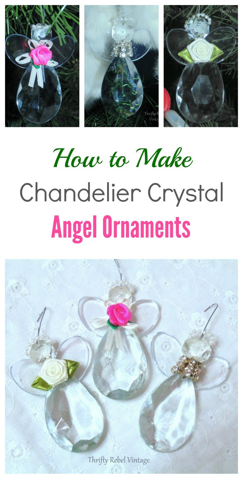 How To Make Chandelier Crystal Angel Ornaments - Color Me ...