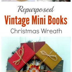 Vintage Mini Book Wreath