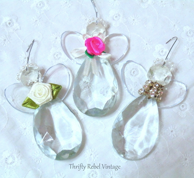 chandelier crystal angel ornaments
