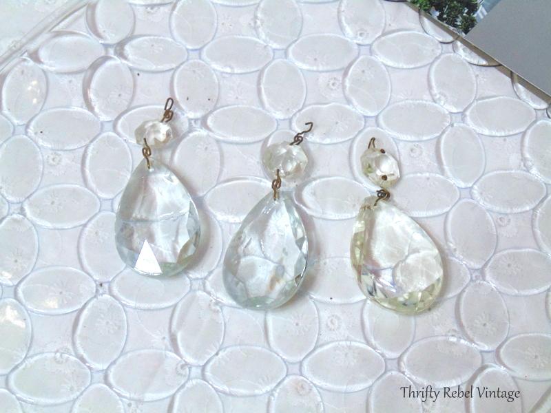 chandelier crystals angel ornament supplies