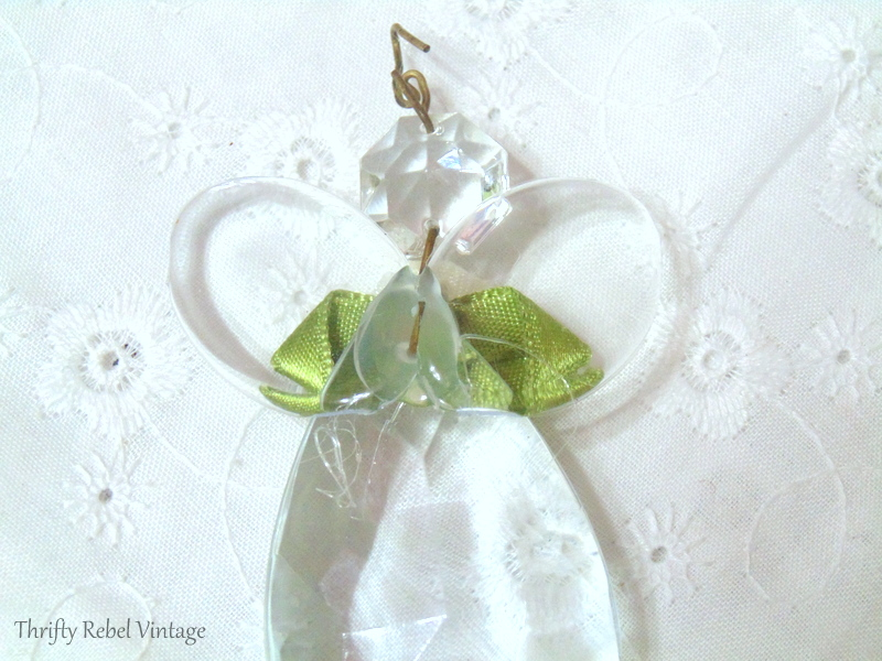 gluing wings onto back of chandelier crystal angel ornaments