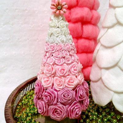How To Make A Miniature Rose Christmas Tree
