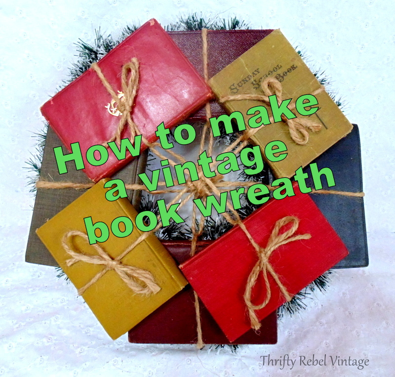 repurposed vintage book wreath