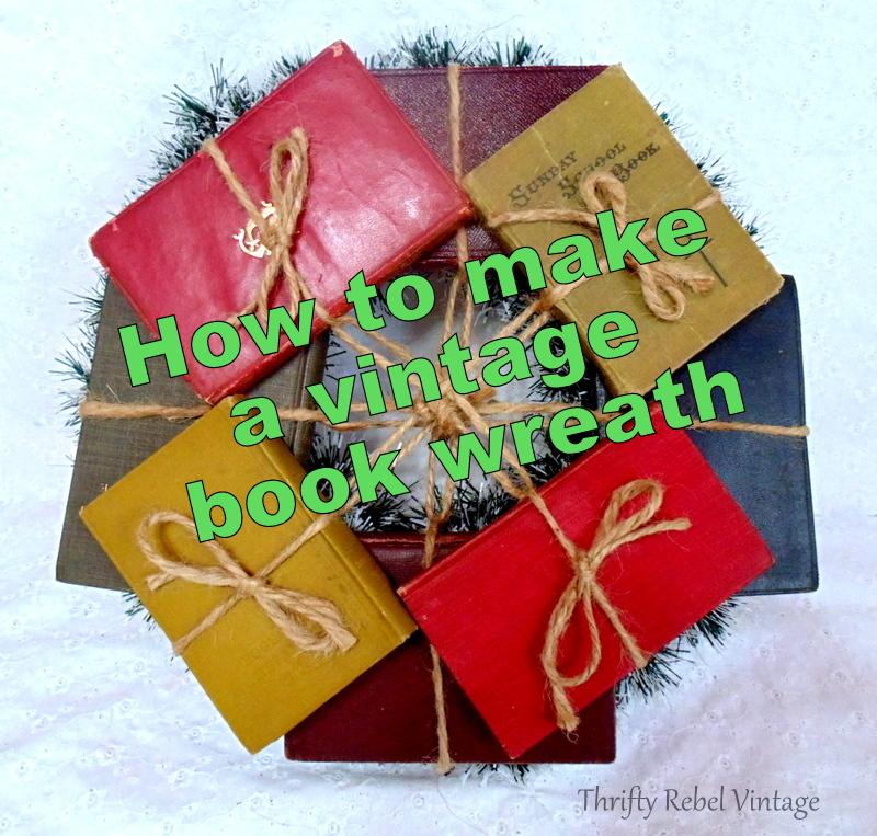 repurposed vintage book wreath