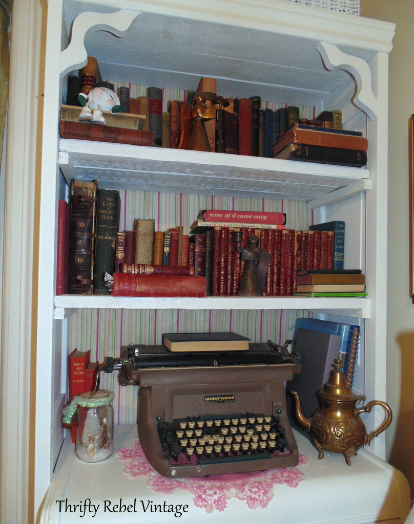 vintage and antique book collection for book wreath