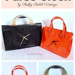 Black Purse Clock and Orange Purse clock