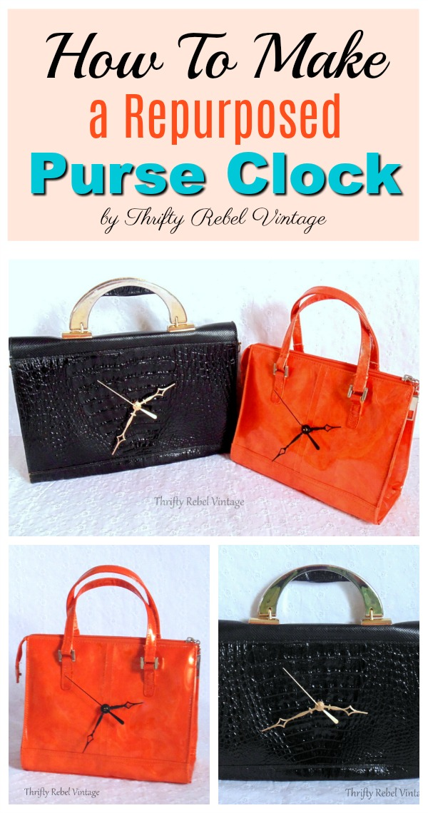 Make a fun and funky purse clock using a thrifted purse, or one of your own that you no longer use, to create the perfect closet accessory.