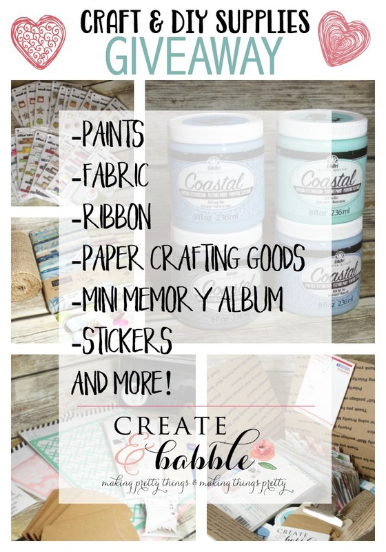 Craft Junk Giveaway January 2018 Create & Babble